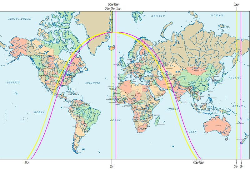Vollmondeklipse 31. Jänner 2018, Astrokartografie